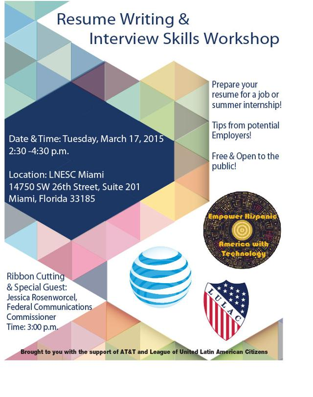 lulac miami resume writing and interview skills workshop