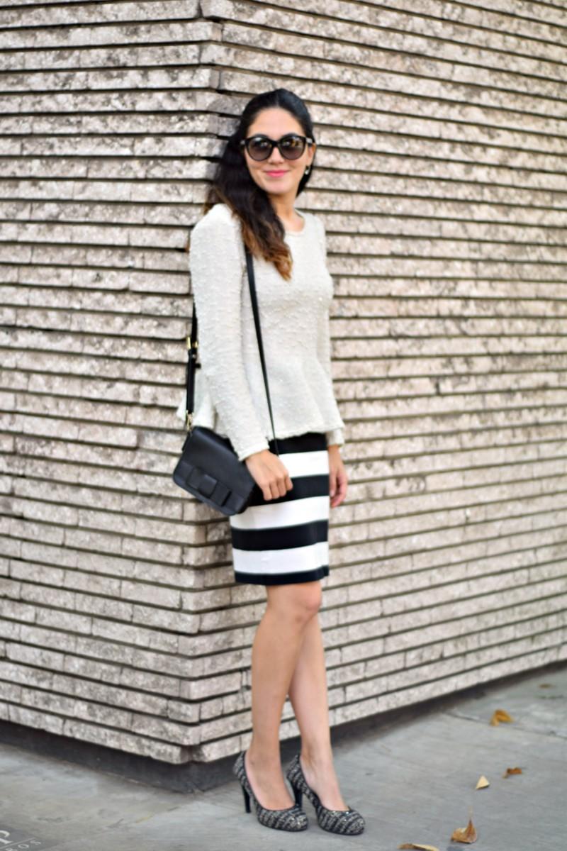 Peplum Top and Pencil Skirt