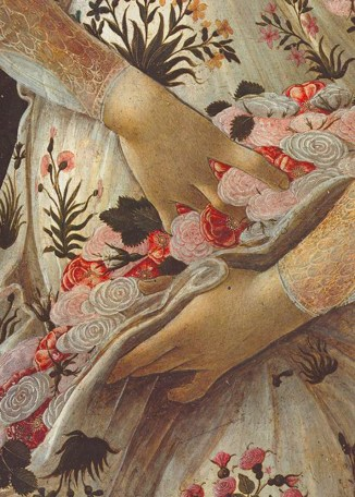 botticelli part mani fiori prim