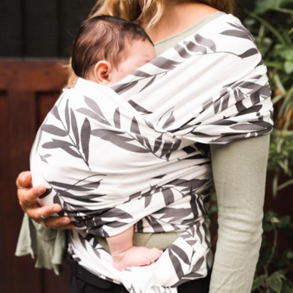 baby on earth écharpe de portage extensible élastique jersey