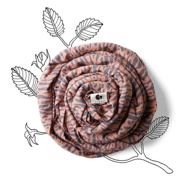 coracor écharpe de portage extensible colorée coton bio
