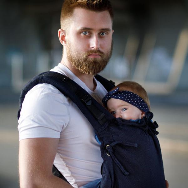 kinder hop porte-bébé évolutif confortable pour papa