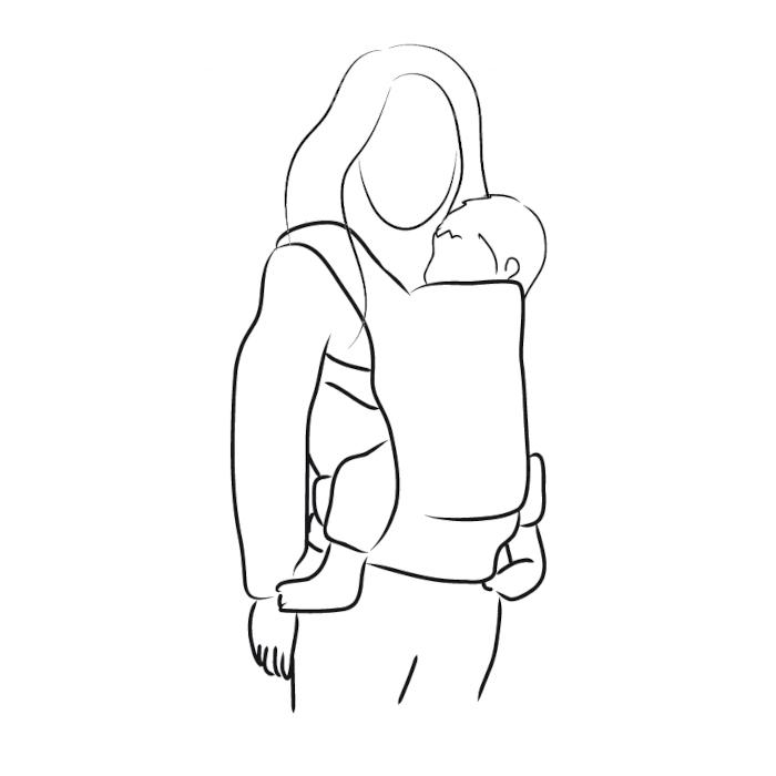 porte-bébé préformé physiologique