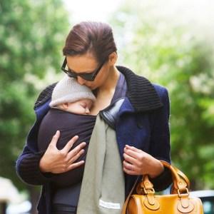 sling écharpe de portage sans noeud PESN love radius dès la naissance bébé nouveau-né