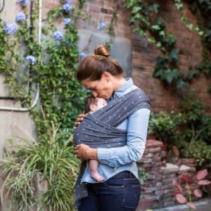 Echarpe de portage pour nouveau-né - Baby on Earth - Crosses