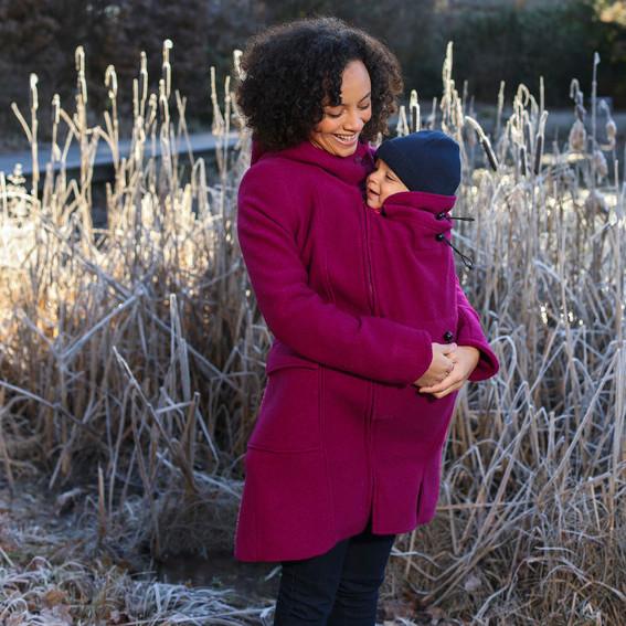 Manteau en laine de portage et grossesse – Mamalila – Framboise