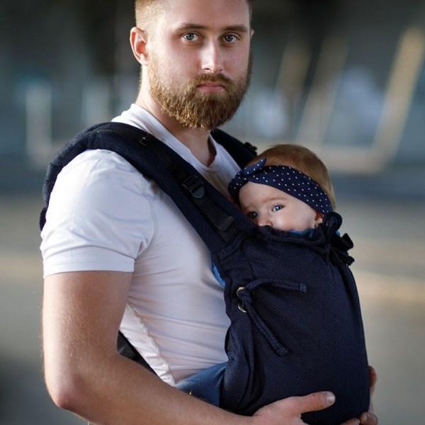 Porte-bébé Multi Soft - Kinder Hop - Dark blue physiologique facile