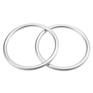 anneaux de portage sling ring argenté silver