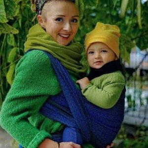 écharpe de portage little frog lovely darkness tencel coton soutenante confortable facile écharpe tissée bébé