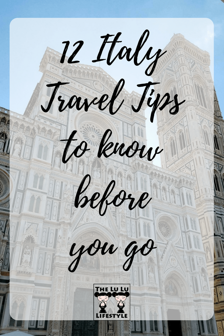 12 italy travel tips, the lu lu lifestyle