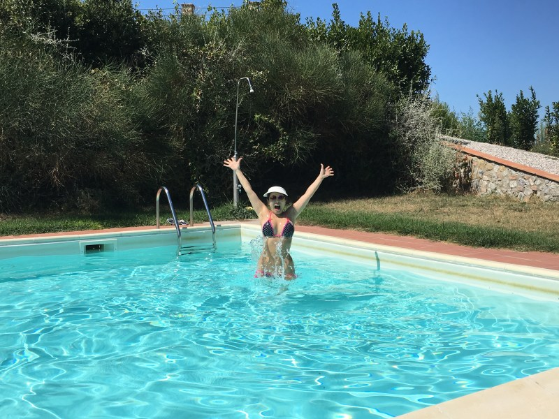 Sienna swimming italy