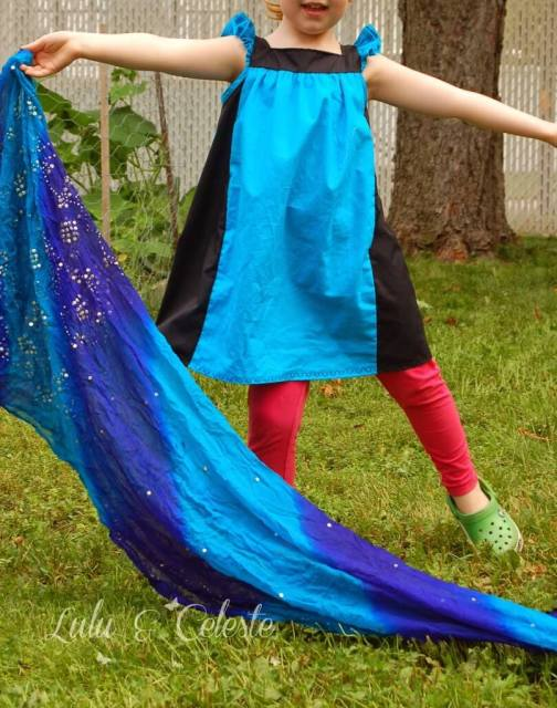 Morpho Butterfly inspired 'Sugar and Spice' Dress sewn by Lulu&Celeste