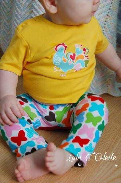 Monkey Leggings pattern by Terra's Treasures, sewn by Lulu&Celeste