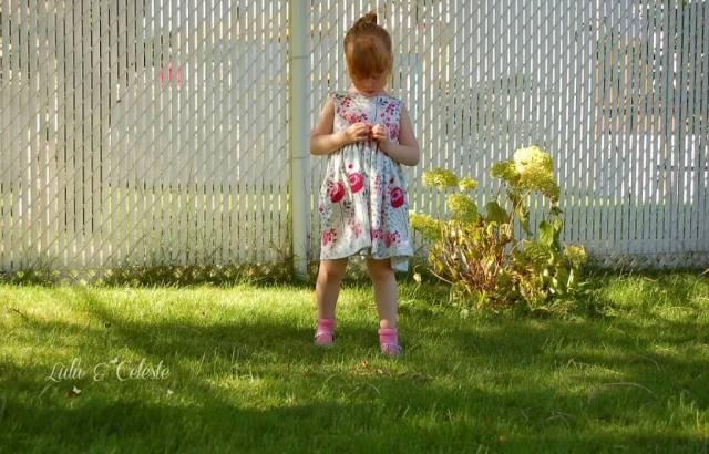 Secret Garden Dress pattern by E+M Patterns sewn by Lulu & Celeste