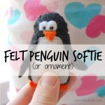 Felt Penguin Ornament (or softie) Tutorial
