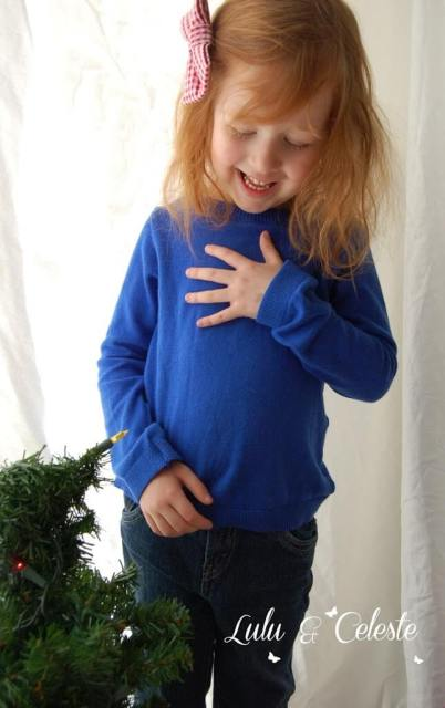Sugarplum Sweater by Ellie Inspired, sewn by Lulu & Celeste