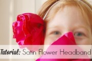 Tutorial to create satin flowers