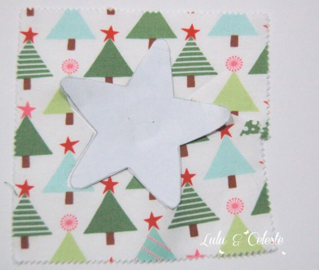 Step 2 -Star ornament tutorial Lulu & Celeste