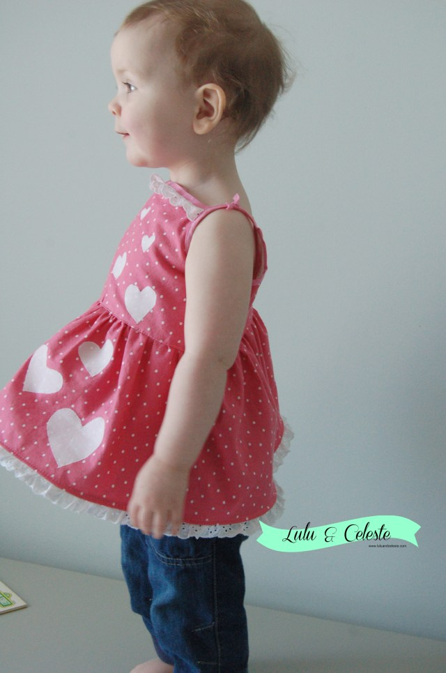 Holiday Cutout Dress/top sewn by Lulu&Celeste