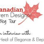 Canadian Pattern Designer blog tour: Interview with Elegance & Elephants
