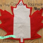 Canadian Maple Leaf mug rug tutorial