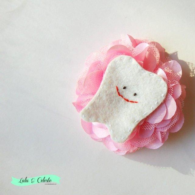 Tooth fairy hair clip by Lulu & Celeste