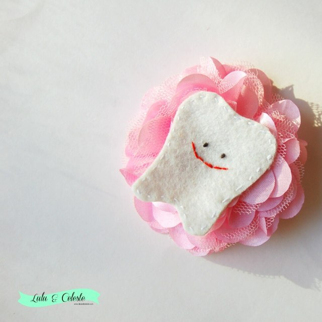 Tooth fairy hair clip by Lulu & Celeste