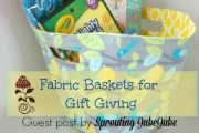 Fabric Basket Tutorial by Sprouting JubeJube