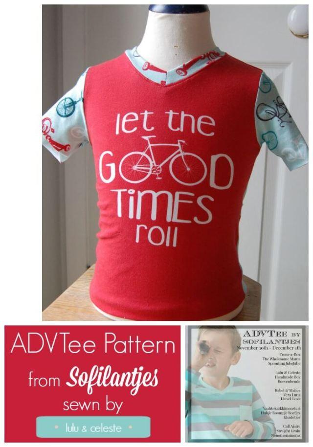 ADVTee pattern by Sofilantjes sewn by Lulu & Celeste