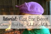 Cat Beret Tutorial by Rebel and Malice