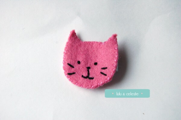 Kitty Cat Hair Clip tutorial by Lulu & Celeste