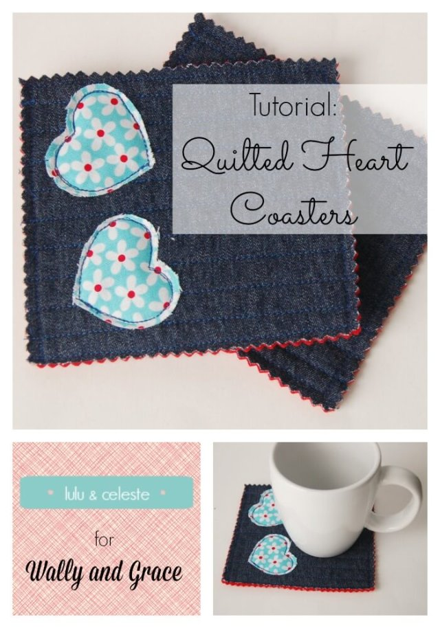 Upcycled Heart Coaster tutorial by Lulu & Celeste for Wally and Grace