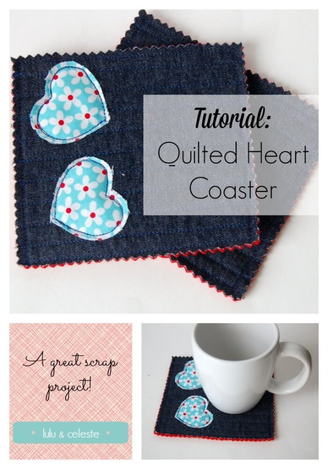 Upcycled Heart Coaster tutorial by Lulu & Celeste