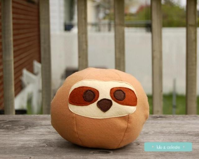 Roly Poly Sloth sewn by Lulu & Celeste