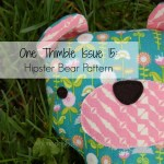 One thimble Issue 15: Hipster Bear pattern