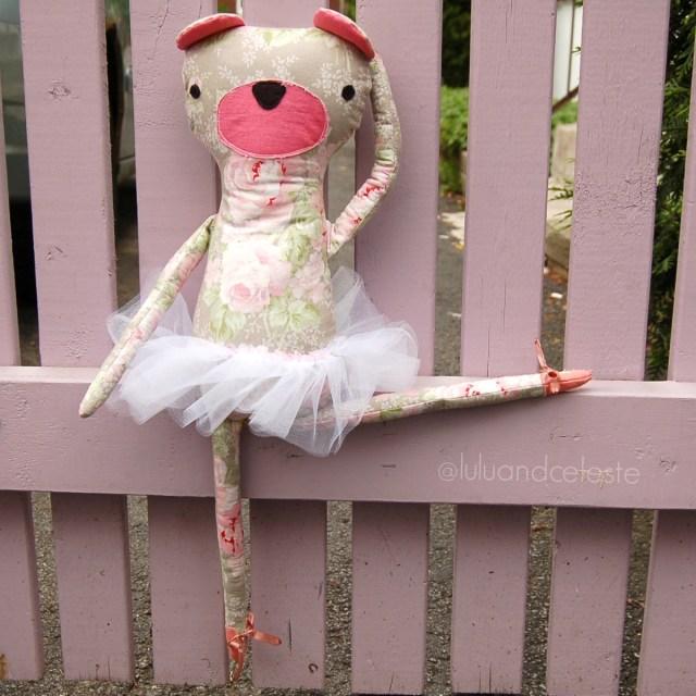 Hipster Teddy Bear sewn by Lulu & Celeste