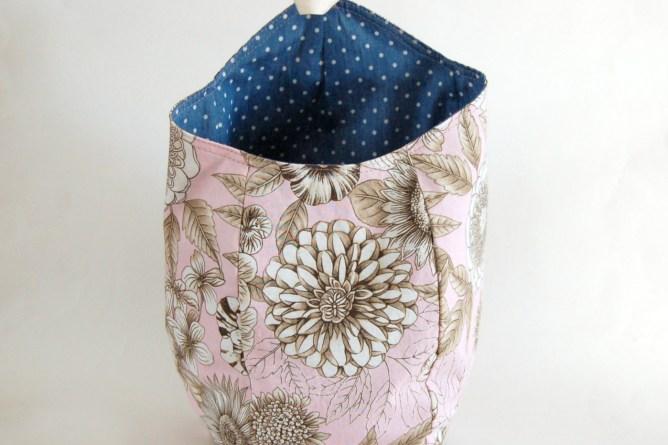 Storage basket sewn by Lulu & Celeste