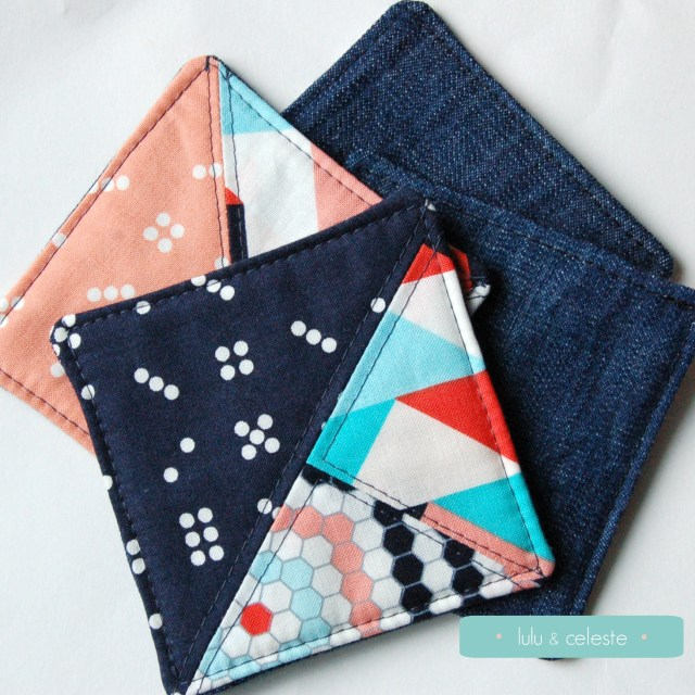 Patchwork coaster tutorial by Lulu & Celeste