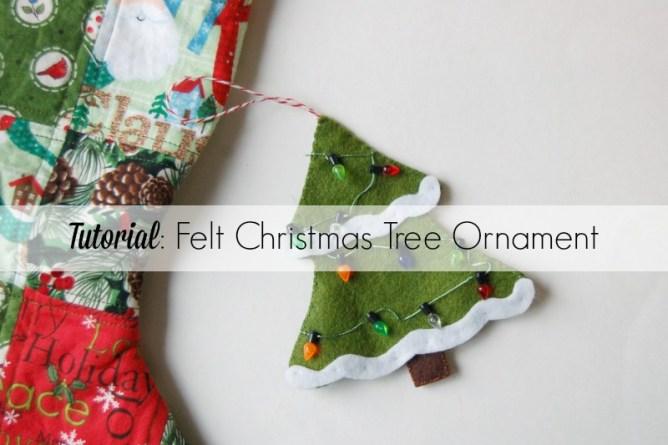Felt Christmas tree ornament by Lulu & Celeste