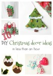 Easy Christmas Decor to Sew in under One Hour