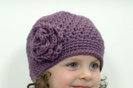 Upcycled Girl Beanie Hat