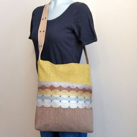 Upcycled Upholstery Sample Tote Bag