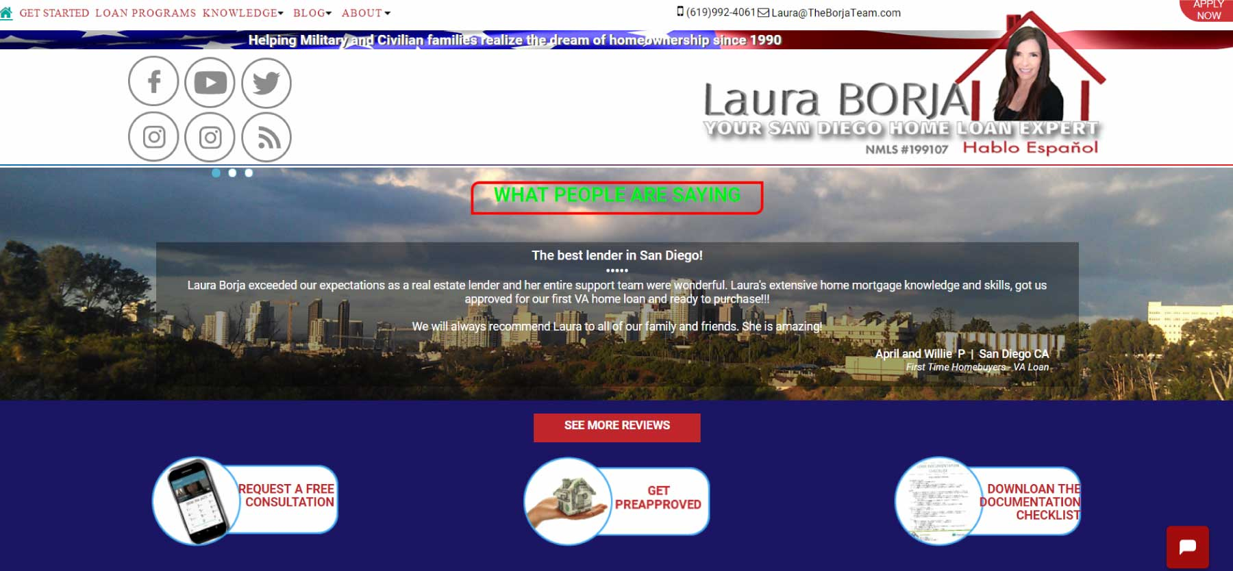 Example of Website Created by Lulu Bee Marketing and Design