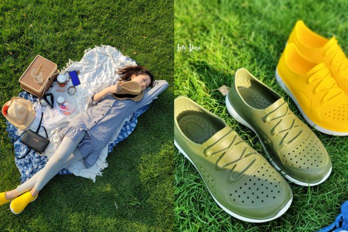 超好穿的洞洞休閒鞋|母子鱷魚運動休閒鞋夏天出遊必備・有型有超好穿搭的繽紛懶人鞋!
