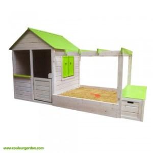maison-de-jardin-avec-pergola-bac-a-sable-et-coffre-a-jouets