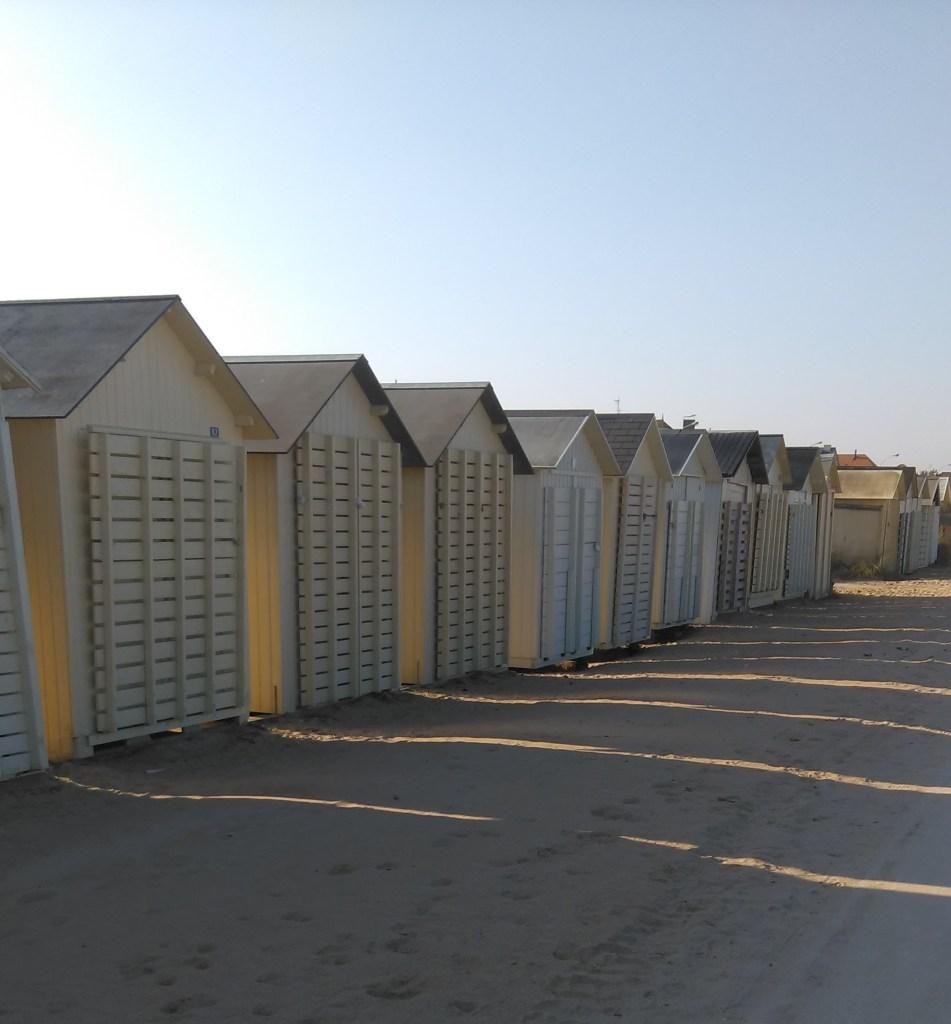 la mer et les cabines