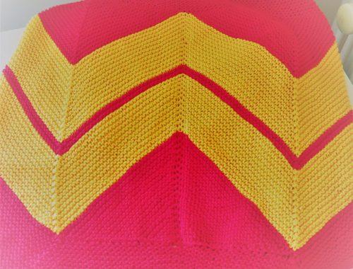 Châle Wonder Woman - plié