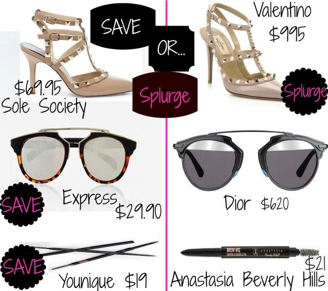 Save or splurge