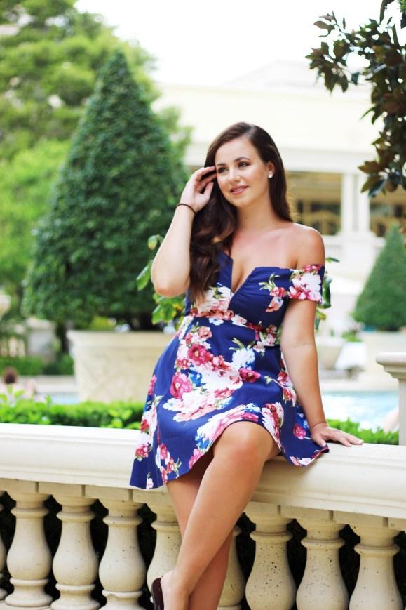Girl wearing classy dress for summer