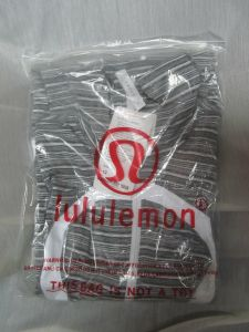 Have you ever received Lululemon items in a plastic bag like this? I haven't.